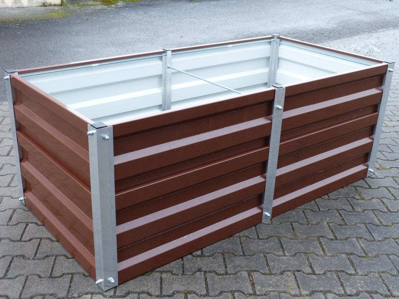 hochbeet metall gr 1 mtr breit x 2 5 mtr lang 75cm hoch. Black Bedroom Furniture Sets. Home Design Ideas
