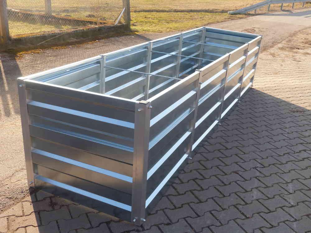 Hochbeet Metall Gr 1 Mtr Breit X 4 Mtr Lang 75cm Hoch Willkommen